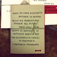 Handmade Bartleby Notebook - I Would Prefer Not To - Incipit