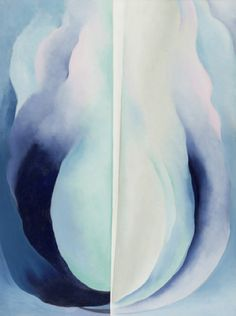 """yama-bato: """" Abstraction Blue Georgia O'Keeffe (American, Oil on canvas, 40 x x 76 cm). Acquired through the Helen Acheson Bequest. © 2012 The Georgia O'Keeffe Foundation / Artists Rights Society (ARS), New. Modern Art, Moma, Georgia Okeefe, Painting, Museum Of Modern Art, Art, Abstract, Georgia O Keeffe, American Artists"""