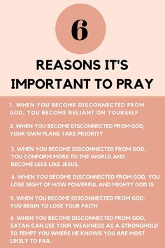 6 reasons it's important to pray