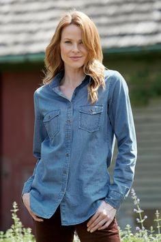 Denim Shirt: Classic Women's Clothing from #ChadwicksofBoston $34.99