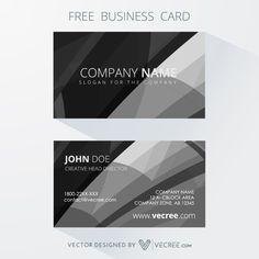 Professional Dark Business Card Free Vector #business #businesscard #free #download #vecree #vecree.com