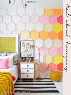 Hexagonal DIY ideas to try | http://lanaloustyle.com/2014/07/hexagonal-diy-ideas-to-try.html