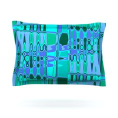 KESS InHouse Changing Gears by Vikki Salmela Pillow Sham | AllModern #blue #Mid #Century #modern #geometric #abstract #art on #home #fashion #decor #pillow #shams for #bedroom #bed #apartment, with coordinating #duvet covers, #rugs #curtain #sheers #kitchen #accessories and more.
