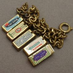 Chewing Gum Packets Charm Bracelet Gum Pops Out Vintage Hard-to-Find | eBay