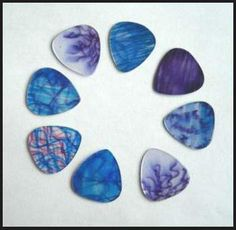 plektrum! DIY guitar picks. Very cool! Pinned this again because for some reason, the first pin wouldn't open to the link.