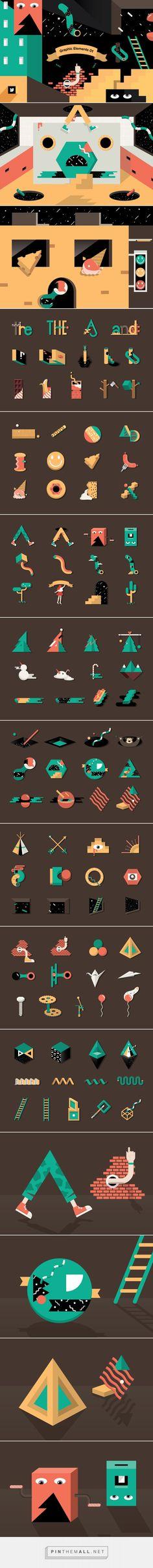 Graphic Elements 01 - Graphics - YouWorkForThem #illustrations