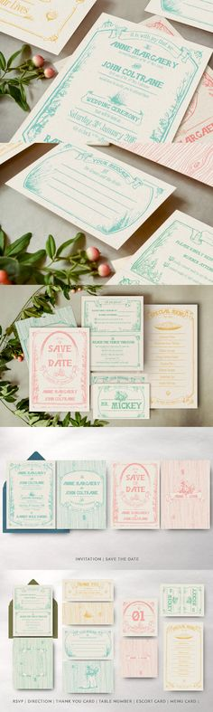Whimsical Forest Wedding Invitation Template AI, EPS, PSD