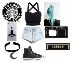 """London"" by dream-forever-878 ❤ liked on Polyvore featuring WithChic, Converse, NARS Cosmetics, Spicher and Company, women's clothing, women's fashion, women, female, woman and misses"