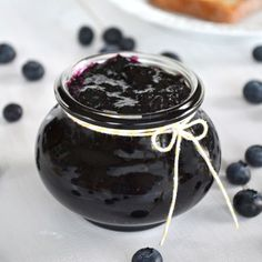 Easy Blueberry Jam {2 Ingredients}. You are just 2 ingredients away from delicious home made blueberry jam! No pectin or canning required.