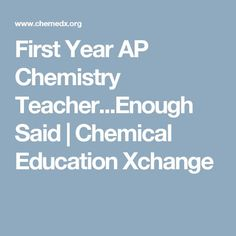 A teacher blogs about her first year as a chemistry AP teacher. Advice and tips. #blog