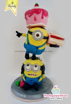 Minions Tower Cake - Cake by Marielly Parra
