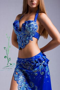 Belly dance costume Ajur by IOLANNADESIGN on Etsy