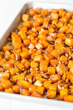 Roasted Butternut Squash 'Irresistibly buttery and sweet, this roasted butternut squash with cinnamon feeds a crowd, which makes it perfect addition to your holiday menu!'-Sweet and Savory Get the recipe here!  via @AOL_Lifestyle Read more: http://www.aol.com/article/lifestyle/2016/11/10/puppy-wags-his-tail-in-full-body-cast-as-he-heals-after-being-dr/21603277/?a_dgi=aolshare_pinterest#fullscreen