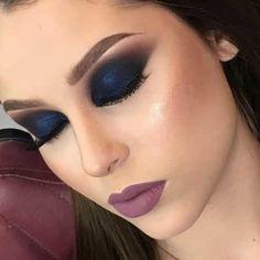 Maquiagem que combine com vestido azul marinho