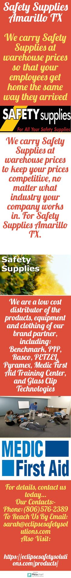 We carry Safety Supplies at warehouse prices so that your employees get home the same way they arrived. For Safety Supplies Amarillo TX, call at: (806)576-2389. https://eclipsesafetysolutions.com/products/