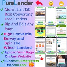 purelander. morethan 150 landersRIP AND EDIT AND LANDING PAGE. OVER 150 FREE, BEST CONVERTING LANDERS FOR CPA MARKETING. www.learnmatter.com/purelander-review-easily-rip-and-edit-any-landing-page