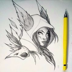 Xayah -League of Legends by Idrilen