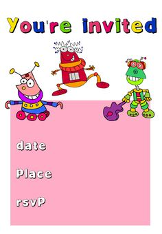 Free Printable Kids Birthday Invitation