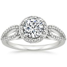 18K White Gold Lumiere Halo Diamond Ring (1/3 ct. tw.) from Brilliant Earth