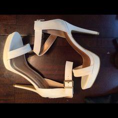 Selling this Off white high heeled sandal in my Poshmark closet! My username is: rarestyles2015. #shopmycloset #poshmark #fashion #shopping #style #forsale #Shoes