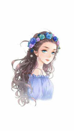 Believe in destiny illustrations art dessin manga aquarelle e. Anime Girl Cute, Beautiful Anime Girl, Kawaii Anime Girl, Anime Art Girl, Anime Love, Anime Girls, Cartoon Kunst, Cartoon Art, Manga Girl