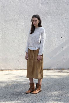 base range long suede skirt from beautiful dreamers.