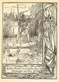 Howard Pyle illustration of Robin Hood from his book The Merry Adventures of Robin Hood