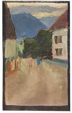Gabriele Munter (1877-1962) Met het uitbreken van de Eerste Wereldoorlog moest ook Kandinsky vluchten, via omwegen keerde hij terug naar Rusland. Münter verbleef in Scandinavië en wachtte tot hij terug zou komen. In 1916 zouden ze elkaar voor het laatst zien, daarna verbrak Kandinsky alle contact. Jaren later hoorde zij dat hij in 1917 getrouwd was met de 16-jarige moeder van zijn enige zoon (die slechts 2 jaar heeft geleefd)  maar een man dient zijn verantwoording te nemen'…