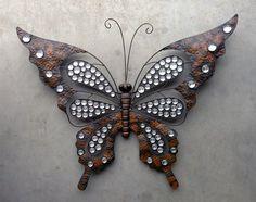 Wanddecoratie vlinder metaal.