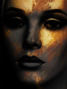 'Grey lips' von Gabi Hampe bei artflakes.com als Poster oder Kunstdruck $20.79