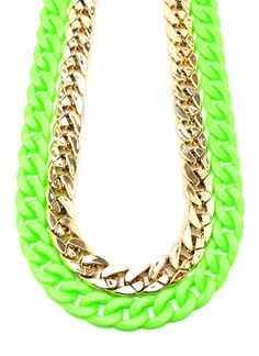 Gold chains were a rappers go-to accessory back in the 80's and 90's. Neon was a street-chic must back in those days also. Could this be the best homage to the street reppin' hip hop artists of the yesteryears ever?! We think so!