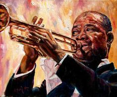 Louis Armstrong by Merryl Jaye