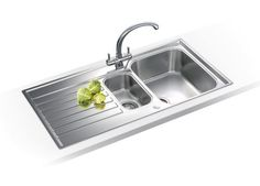 Franke Sink With Drainboard : bowl kitchen sink / stainless steel / with drainboard ASX 651 FRANKE
