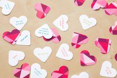 Lag konfetti med søte små sitater på. Klikk for full oppskrift <3