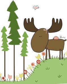 Moose Moa. #moosemoa #moose