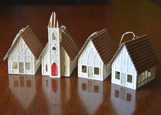 Church/Chapel Christmas Ornament by KoontzDesigns on Etsy