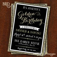 All That Glitters Golden Birthday Party Golden Birthday Parties - Golden gold birthday invitation background