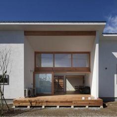 『5つのテラスの家』光と風を楽しむ住まいの部屋 リビング側外観