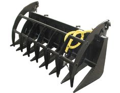 """The E.Series Root Rake Grapple  66""""inch retail price 1299  72/78""""inch retail price 1399 Homemade Tractor, Skid Steer Attachments, Tractor Accessories, Kubota Tractors, Heavy Equipment, Retail Price, Farms, Moose, Ideas"""
