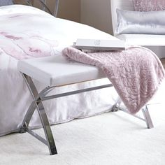 Bench with Metal Legs/BENCHES/FURNITURE|Bouclair.com