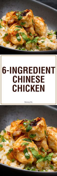 Our 6-Ingredient Chinese Chicken is made with only healthy ingredients, and because it contains only six ingredients, it's a cinch to shop for and prepare. #Chineserecipes #chickenrecipes
