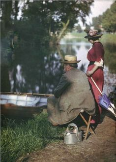 autochrome. It's just bizarre to see these old pictures in color.