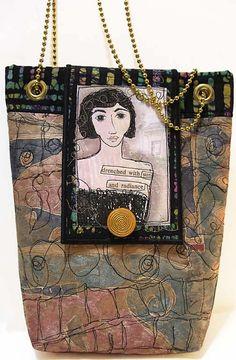 Handmade purses and bags by DJ Pettitt don't like the chain for a strap Handmade Purses, Handmade Handbags, Painted Canvas Bags, Frame Purse, Art Bag, Bohemian Accessories, Shoulder Backpack, Diy Purse, Boho Bags