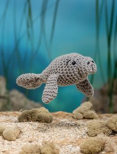 Bathtime Buddies 20 Crocheted Animals from the Sea Manatee