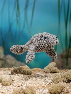 Bathtime Buddies 20 Crocheted Animals from the Sea Manatee