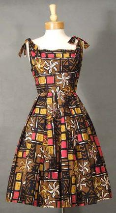 Vintageous, LLC - WONDERFUL Alfred Shaheen Sun Dress w/ Tie Shoulders, $165.00 (http://www.vintageous.com/wonderful-alfred-shaheen-sun-dress-w-tie-shoulders/)