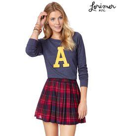 Pleated Plaid Skirt - Aeropostale  http://www.aeropostale.com/product/index.jsp?productId=18327016&cid=