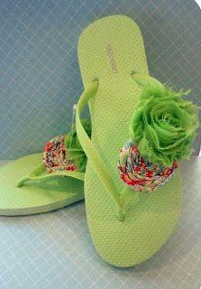 bc9db8817 23 Ideas de cómo decorar todo tipo de sandalias para el verano. Flip Flop  ...
