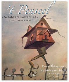 Kunstenaarscollectief 't Penseel olv Corinne Veen --- Hemelvaart 2015 Dorpskerk Vorden & Rabobank Hengelo Gld