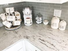 beautifully designed countertop coffee stations 2 – Michael Barrera – be… – Style Of Coffee Bar In Kitchen Coffee Bars In Kitchen, Coffee Bar Home, Home Coffee Stations, Iced Coffee, Coffe Bar, Coffee Counter, Coffee Shops, Coffee Mugs, Kitchen Countertop Materials